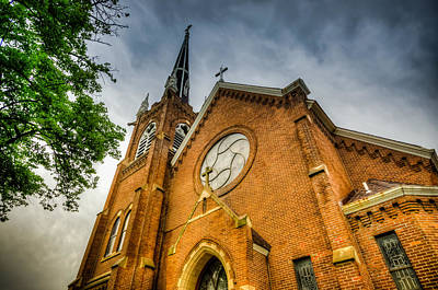 Photograph -  St. Wenceslaus Church In Cedar Rapids by Anthony Doudt