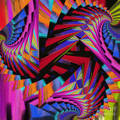 Digital Art -  Stairs by Soumya Bouchachi