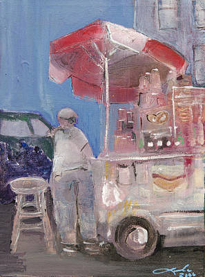 Painting -  Stand On The Corner by Leela Payne