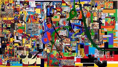 Inner Self Digital Art -  Wiping Out The Language Of Amalek  9b by David Baruch Wolk
