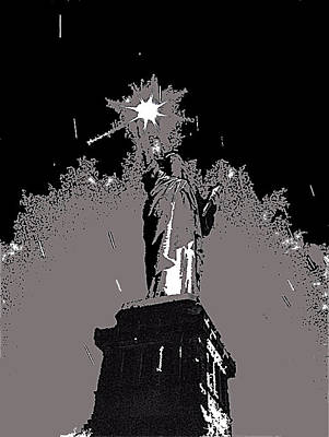Statue Of Liberty Power Outage 1942-2014 Art Print by David Lee Guss