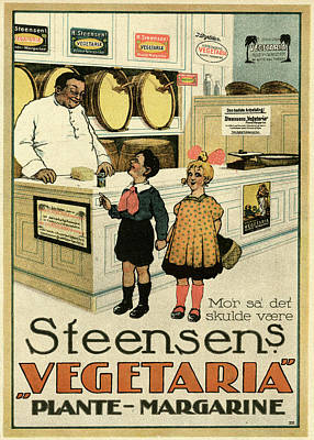 Margarine Drawing -  Steensen's Vegetaria Vegetable by Mary Evans Picture Library