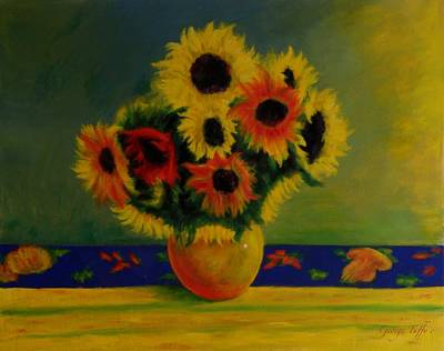 Painting -  Summer Sunflowers  by George Tuffy
