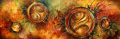 Abstract Energy Art Painting - ' Sun Gods ' by Michael Lang