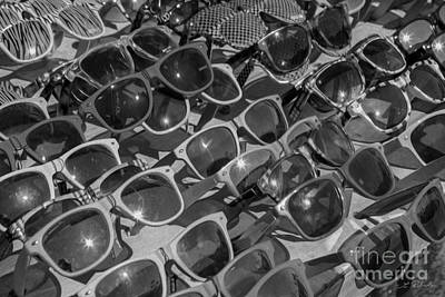 Black Commerce Photograph -  Sunglasses In Black And White by Iris Richardson