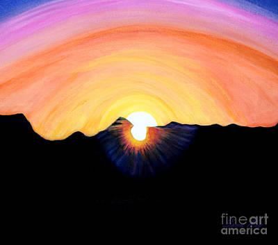 Painting -  Sunrise. Inspirations Collection. by Oksana Semenchenko