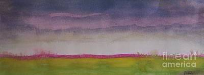 Prairie Sunset Wall Art - Painting -  Sunset In Prairie by Vesna Antic
