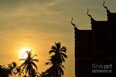 Sunset In The Tempel Art Print by Michelle Meenawong