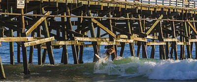 San Clemente Beach Photograph -  Surfer Dude 5 by Scott Campbell