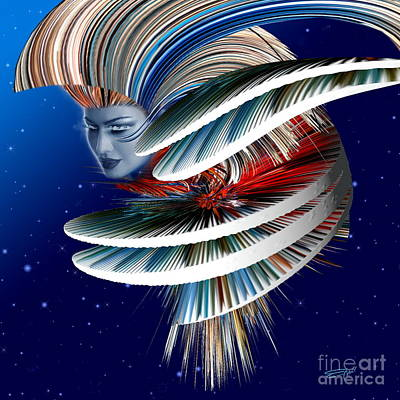 Pyrography -  Suzy Deep Space 1 by Emil Jianu