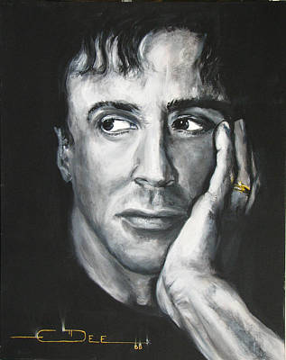 Sylvester Stallone Drawing -  Sylvester Stallone by Eric Dee