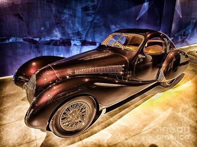 Art Print featuring the photograph  Talbot Lago 1937 Car Automobile Hdr Vehicle  by Paul Fearn