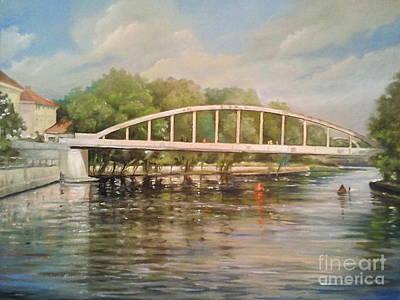 Architectur Painting -  Tartu Arch Bridge by Ahto Laadoga