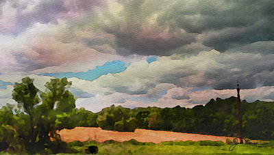 Art Print featuring the painting  Tennessee Landscape by Joan Reese