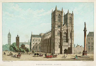 Westminster Abbey Drawing -  The Abbey On A Sunday by Mary Evans Picture Library