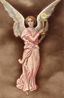 Communion Drawing -  The Angel Of The Communion by Mary Evans Picture Library