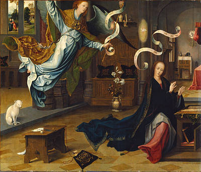 Painting -  The Annunciation by Jan de Beer