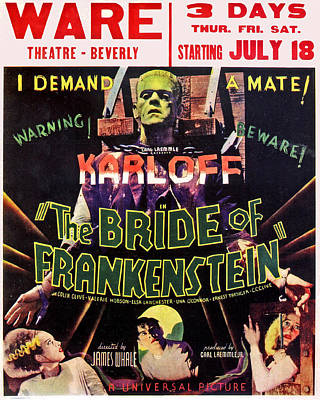 The Bride Of Frankenstein Art Print