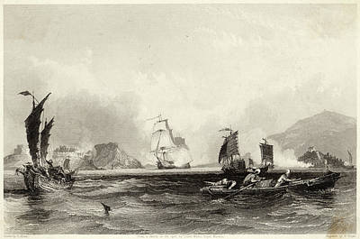 The British Fleet Forces A  Passage Art Print by Mary Evans Picture Library