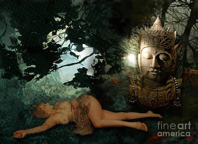 The Buddha  Tempation Art Print by Rosa Cobos
