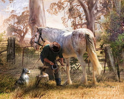 Australian Mixed Media -  The Bushmans Forge by Trudi Simmonds