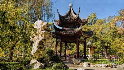 Photograph -  The Chinese Garden by Peggy Hughes