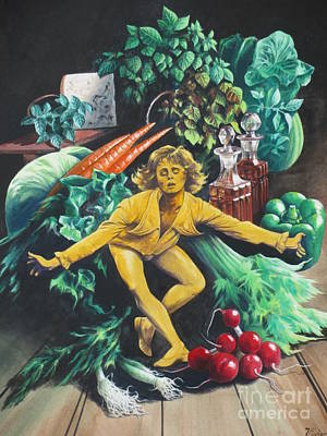 Painting -  The Dancing Lemon by Vivien Rhyan