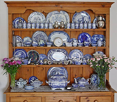 Blue And White Porcelain Photograph -  The Dresser by Paul Williams