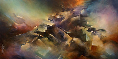 Directional Painting - ' The Edge ' by Michael Lang