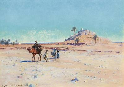 Masjid Painting -  The El Golea Oasis  Algeria by Celestial Images