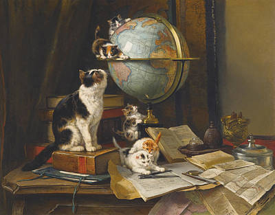 Scholar Painting -  The Globetrotters by Henriette Ronner