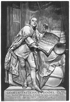 Westminster Abbey Drawing -  The Handel Monument In Westminster by Mary Evans Picture Library