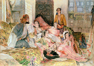 Concubine. Harem Girl Painting -  The Harem by John Frederick Lewis