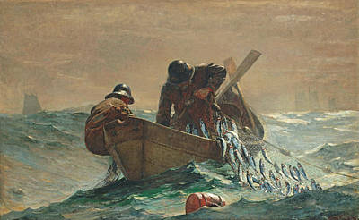 Contemporary Age Painting -  The Herring Net by Winslow Homer