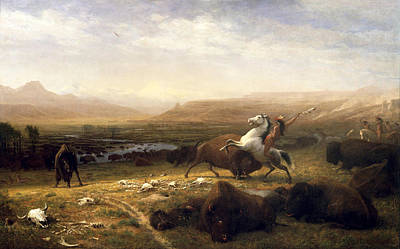 The Last Of The Buffalo Painting - The Last Of The Buffalo by Albert Bierstadt