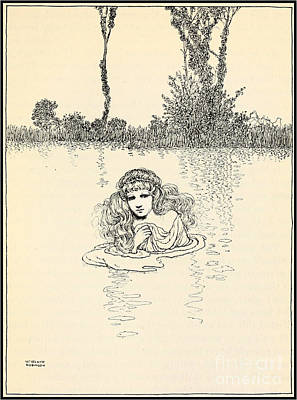 Robinson Drawing -  The Little Mermaid by Celestial Images