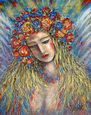 Painting -  The Loving Angel by Natalie Holland