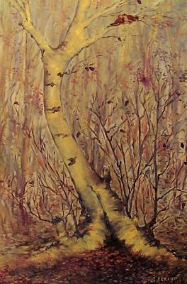 Painting -  The  Loving  Tree by Beth Arroyo