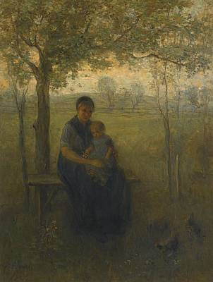 Jozef Israels Painting -  The Madonna Of Drenthe by Celestial Images