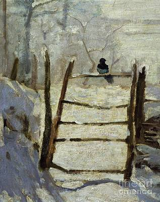 Magpies Painting -  The Magpie by Claude Monet