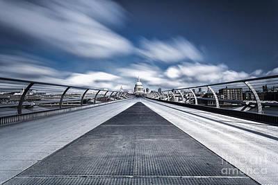 Millennium Wall Art - Photograph -  The Millennium Bridge  by John Farnan