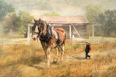 Shire Horse Digital Art -  The Next Generation by Trudi Simmonds