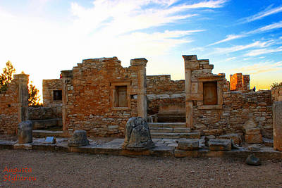 Pentagram Photograph -  The Palaestra - Kourion-apollon by Augusta Stylianou