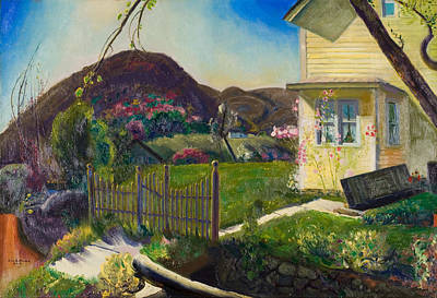 Pink Fence Painting -  The Picket Fence by George Wesley Bellows