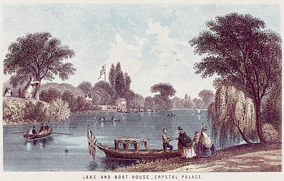 Ply Drawing -  The Picturesque Boating Lake by Mary Evans Picture Library