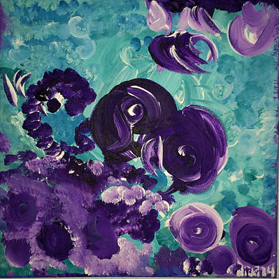 Painting -  The Purps At The Badger Stop by Nicki La Rosa