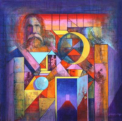 The Pythagoras Door Art Print by J W Kelly