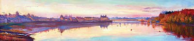 Mayo Painting -  The Quay At Dusk by Conor McGuire