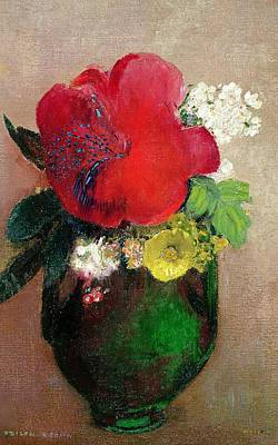 Symbolism In Art Painting -  The Red Poppy by Odilon Redon