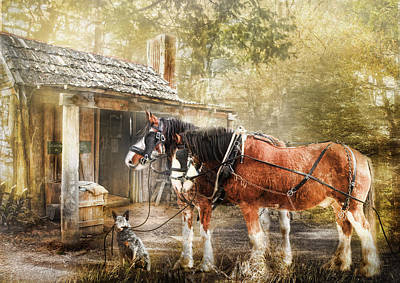 Shire Horse Digital Art -  The Replacements by Trudi Simmonds